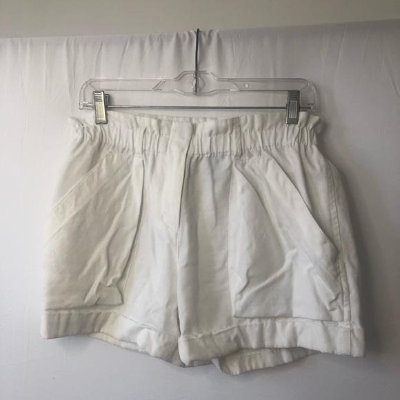 BCBGMaxAzria Pants - BCBG Maxmazria White Paperbag Shorts